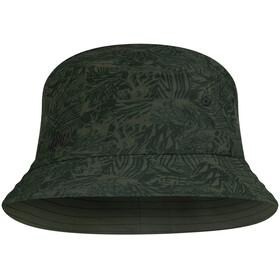 Buff Trek Bucket Hat, checkboard moss green
